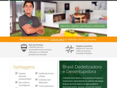 Portfólio - Alvetti Comunicação - Site Brasil Dedetizadora