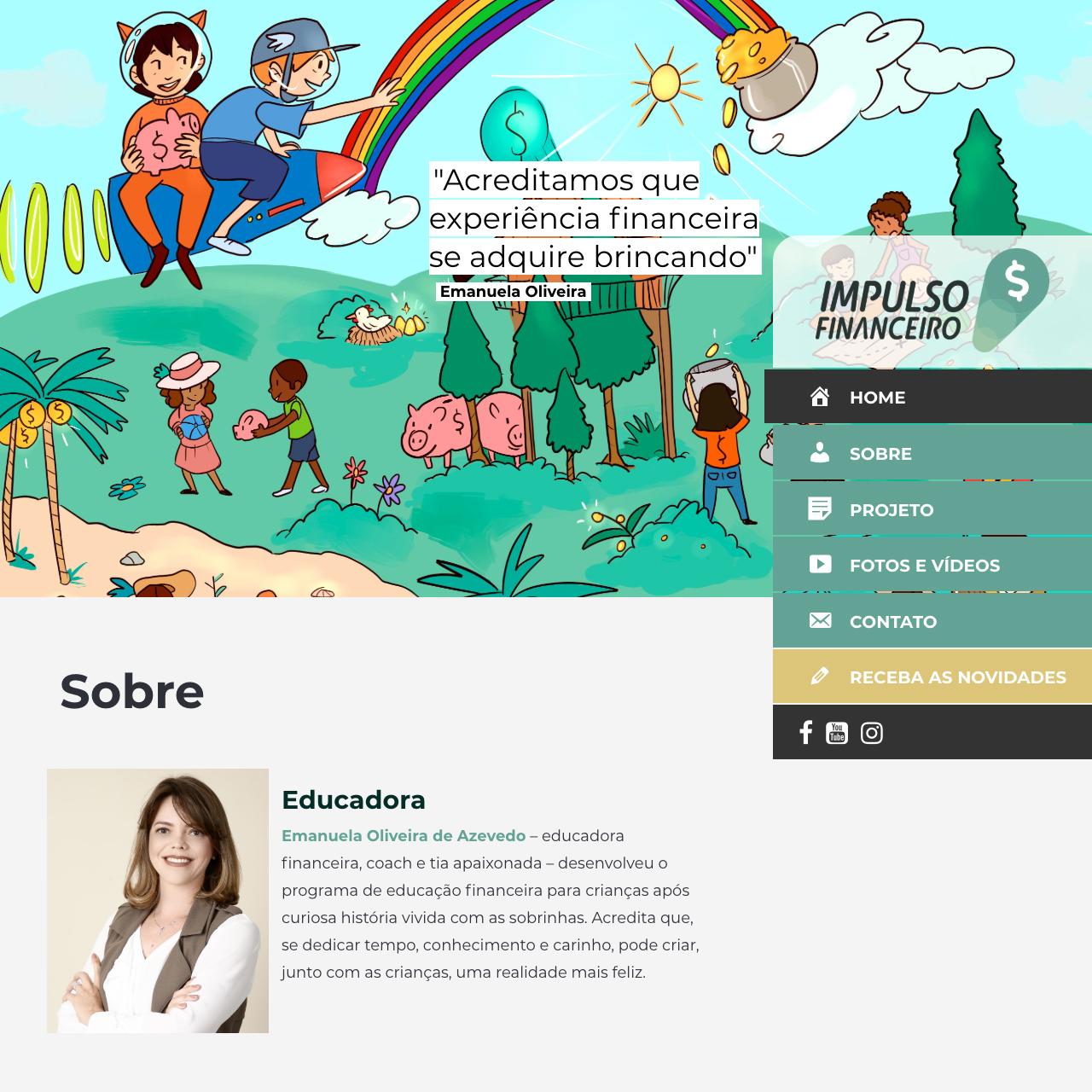 Portfólio - Alvetti Comunicação - Site Impulso Financeiro